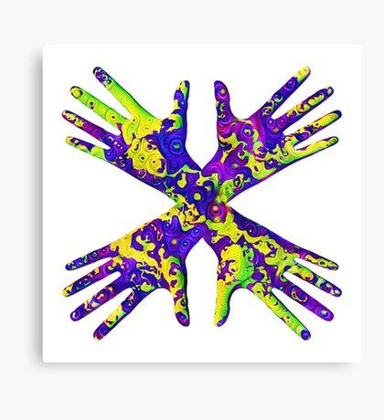 #DeepDream Painter's gloves 5x5K v1456325888 Canvas Print