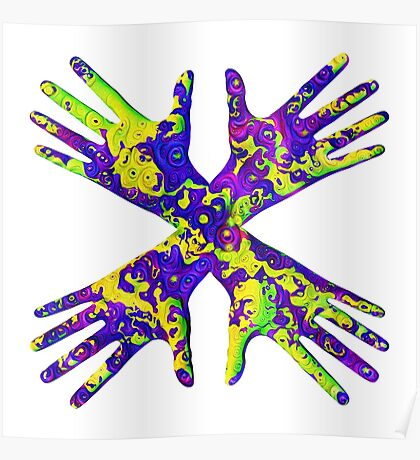 #DeepDream Painter's gloves 5x5K v1456325888 Poster