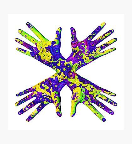 #DeepDream Painter's gloves 5x5K v1456325888 Photographic Print