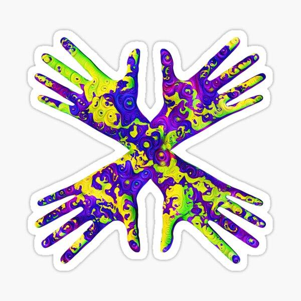 #DeepDream Painter's gloves 5x5K v1456325888 Sticker