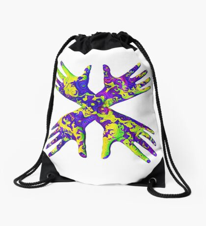 #DeepDream Painter's gloves 5x5K v1456325888 Drawstring Bag