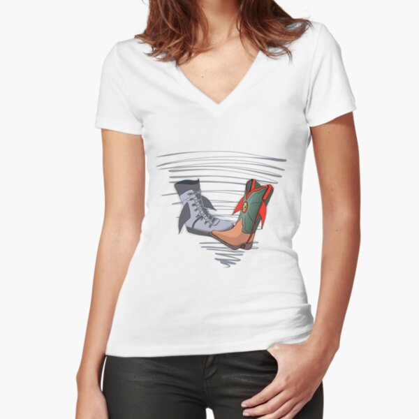 Fish Boots Fitted V-Neck T-Shirt