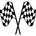 Motor Sport Racing Racing Cars Race Checkered Flag Le Mans Flutter Win Winner Chequered Flag Double Finish Line Black Sticker By Tomsredbubble Redbubble