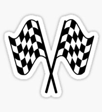 MOTOR SPORT, RACING, Racing Cars, Race, Checkered Flag, Le Mans, Flutter, WIN, WINNER, Chequered Flag, Double, Finish line, BLACK Sticker