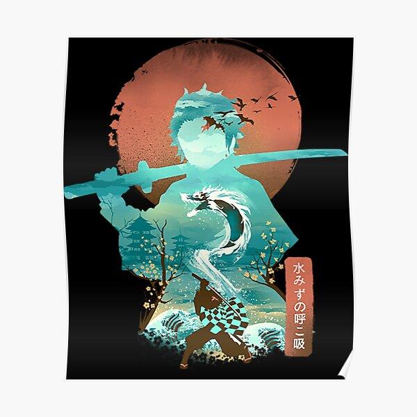 Demon Slayer Ukiyo e Breath of Water Poster