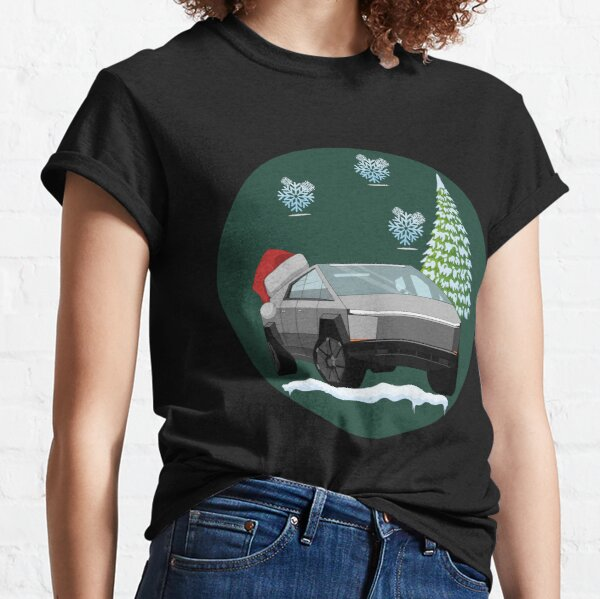 Cyber Truck with Christmas designs.  Classic T-Shirt