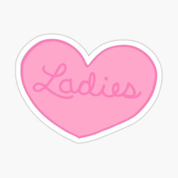 Ladies Heart Sticker