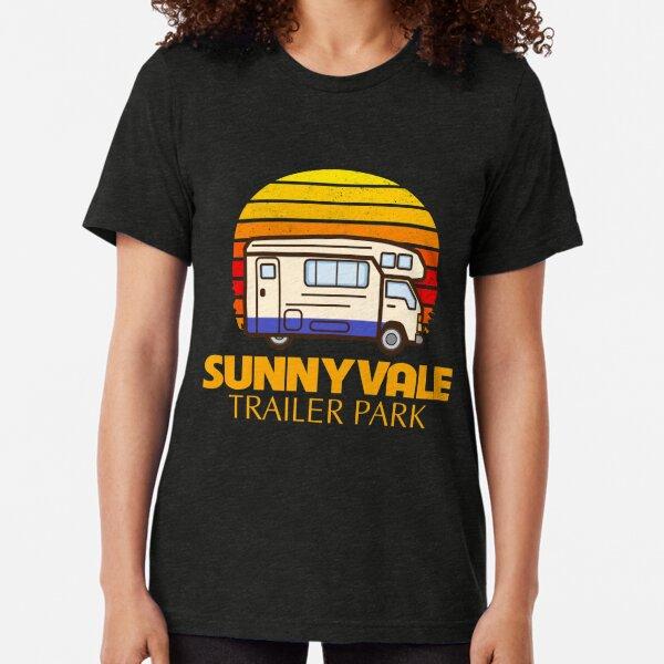 Graphic Funny Art Sunnyvale Trailer Park Tri-blend T-Shirt