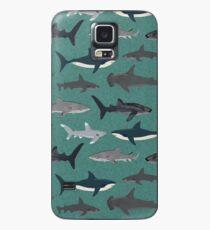 Funda/vinilo para Samsung Galaxy Tiburones ilustración arte impresión vida marina vida marina animal biólogo marino niños niños género neutral educativo Andrea Lauren