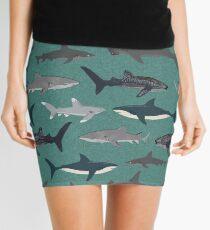 Sharks illustration art print ocean life sea life animal marine biologist kids boys gender neutral educational Andrea Lauren  Mini Skirt