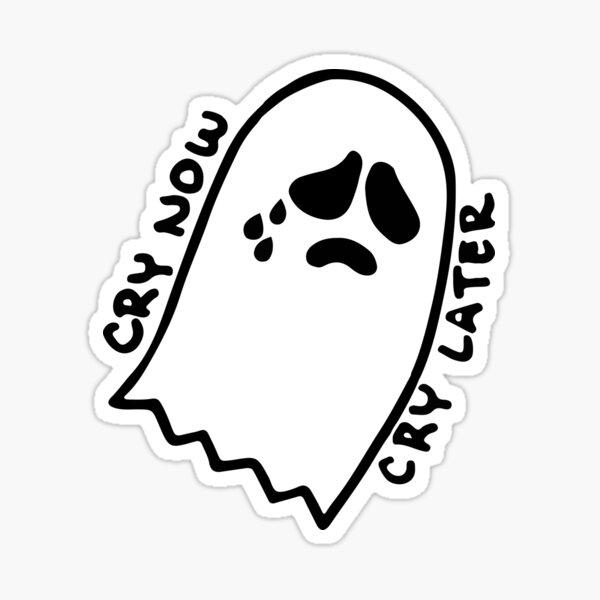 Sad Ghostie Sticker