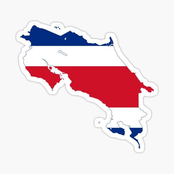Mapa de la bandera de Costa Rica Pegatina