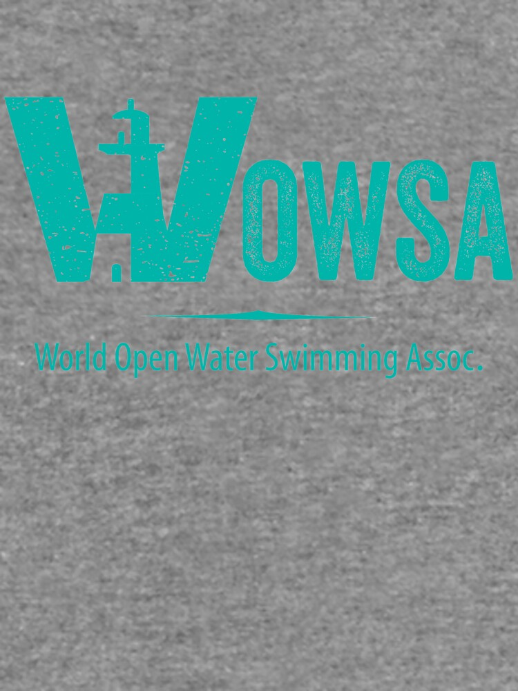 Teal Lighthouse Swimming Logo Tee (Front) by WOWSA