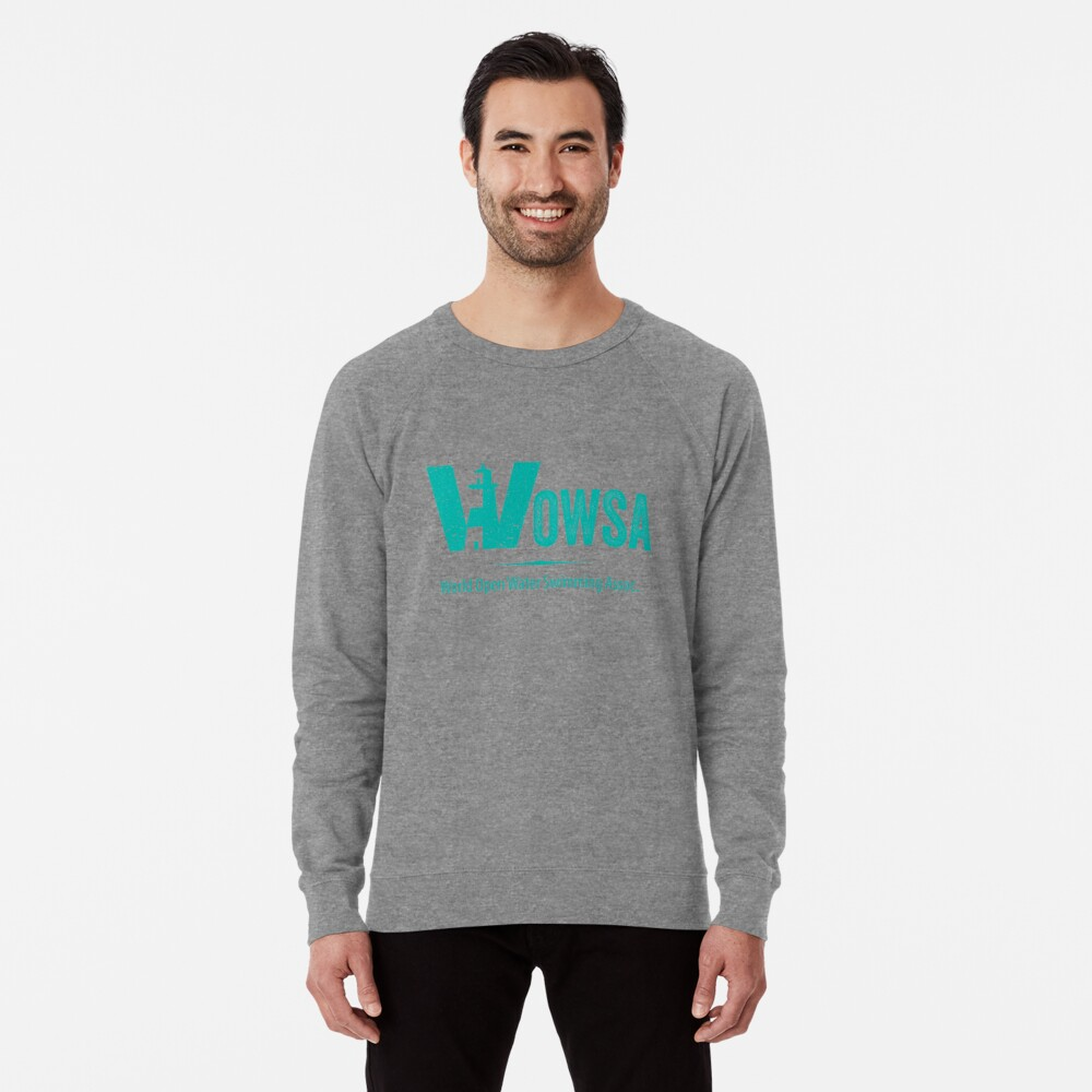 Teal Lighthouse Swimming Logo Tee (Front) Lightweight Sweatshirt