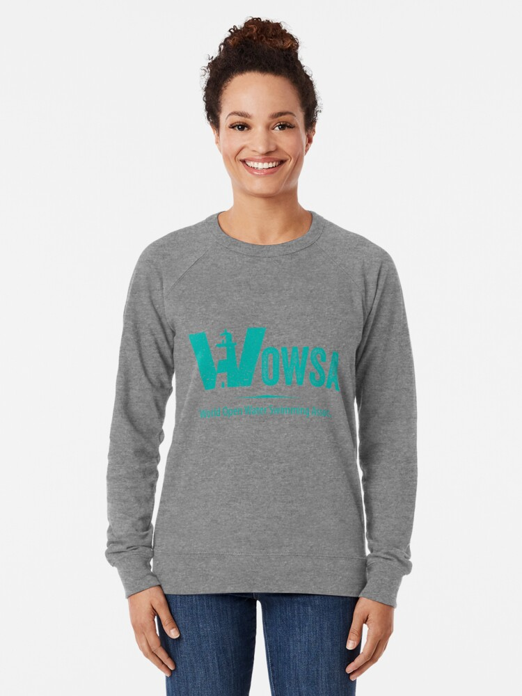 Alternate view of Teal Lighthouse Swimming Logo Tee (Front) Lightweight Sweatshirt
