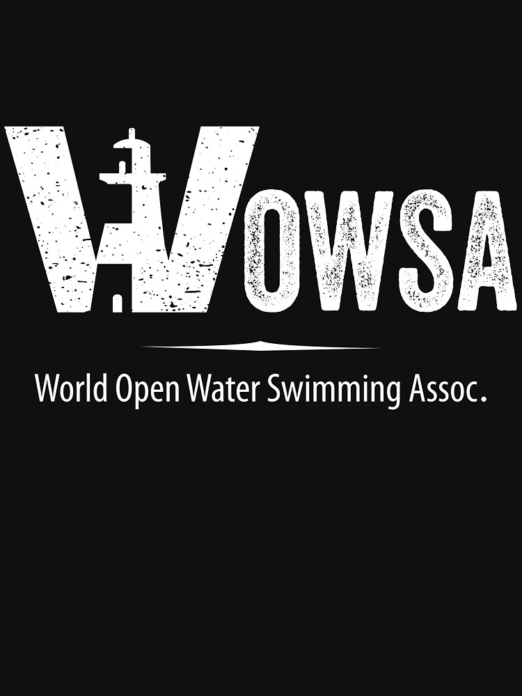 White  WOWSA Lighthouse Swimming Logo (Front) by WOWSA