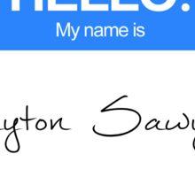 Hello, my name is Peyton Sawyer Sticker