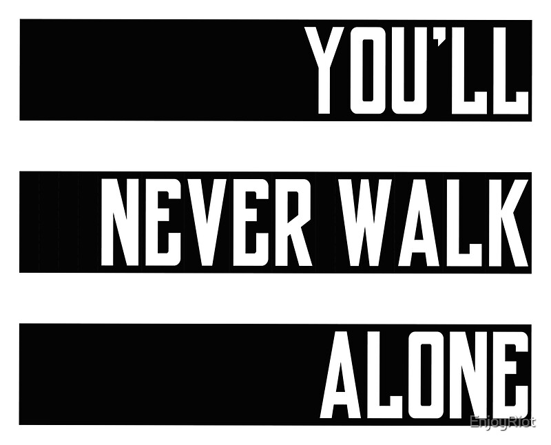 you 39 ll never walk alone ultras stickers by enjoyriot redbubble. Black Bedroom Furniture Sets. Home Design Ideas