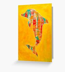 Happy Dolphin 3 Greeting Card
