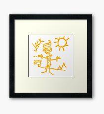 Doodle Jack - Borderlands Framed Print