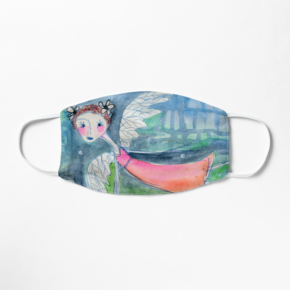 Flying Angel Open Wings in Blue and Green Colors Mask