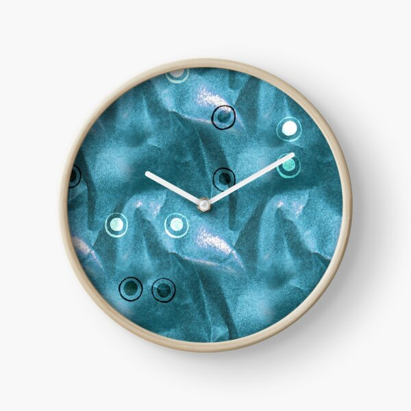 dotty patterns with sparkly scrunched up paper Clock