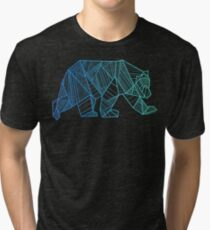 Geometric Bear - 928apparel.com Tri-blend T-Shirt