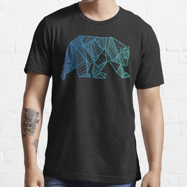 Geometric Bear T Shirt  - Geometrical Bear Shirt - Camping and Hiking Shirt - Mountains T-Shirt - Wilderness Outdoors Shirt Essential T-Shirt