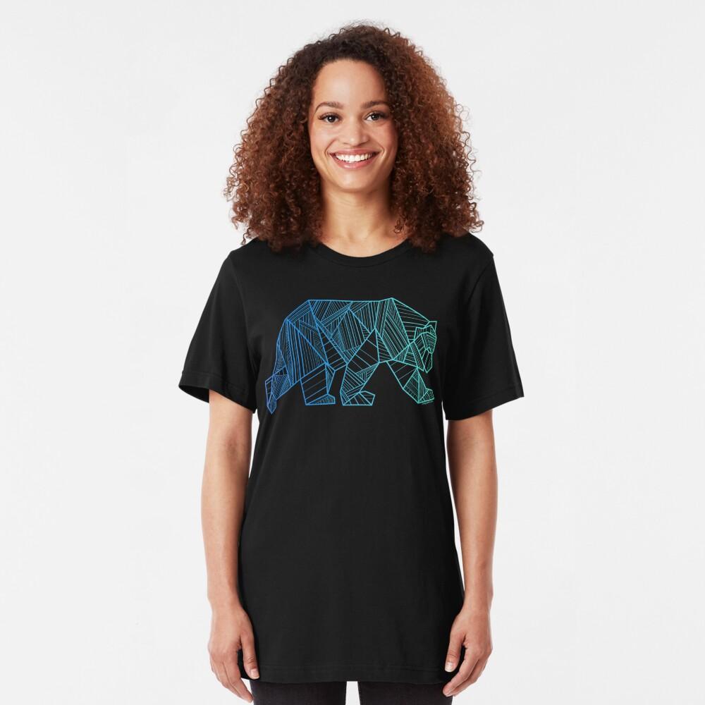 Geometric Bear T Shirt  - Geometrical Bear Shirt - Camping and Hiking Shirt - Mountains T-Shirt - Wilderness Outdoors Shirt Slim Fit T-Shirt