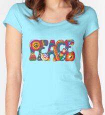 Psychedelic Peace Fitted Scoop T-Shirt