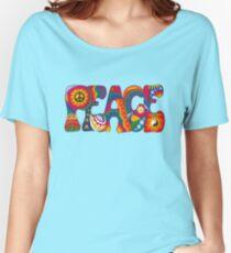 Camiseta ancha para mujer Paz Psicodélica