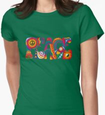 Psychedelic Peace Women's Fitted T-Shirt