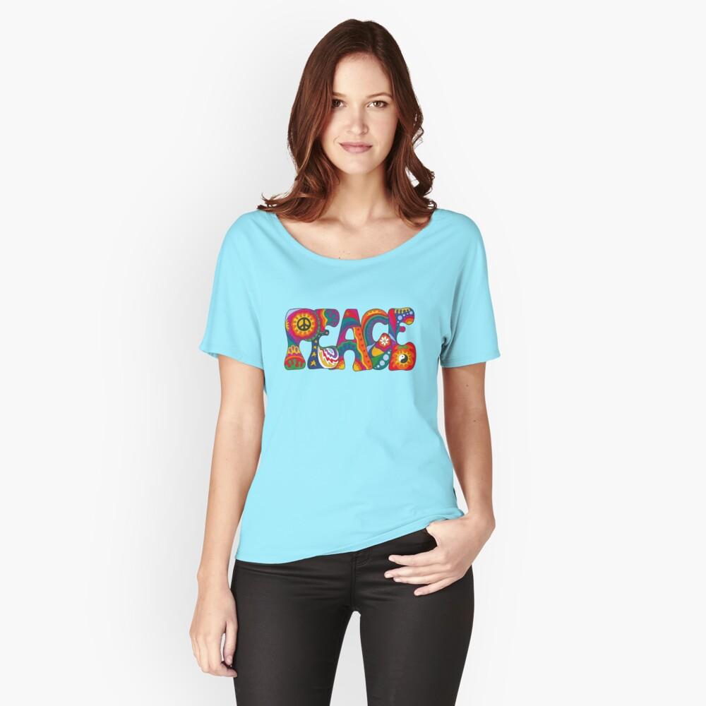 Psychedelischer Frieden Loose Fit T-Shirt