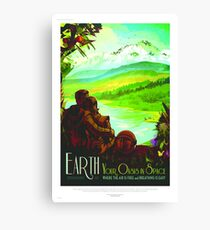 Earth - NASA/JPL Travel Poster Canvas Print