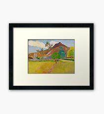 Paul Gauguin - Tahitian Landscape  Framed Print