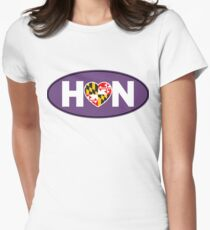 Maryland Hon Purple Womens Fitted T-Shirt