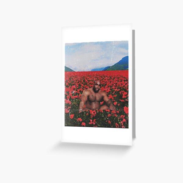 Barry Wood en un campo de flores Tarjetas de felicitación