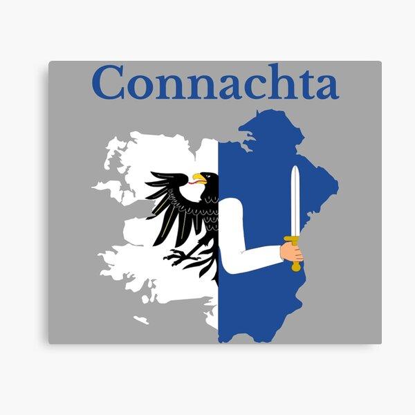 Connacht  Province Map flag , Ireland. Canvas Print
