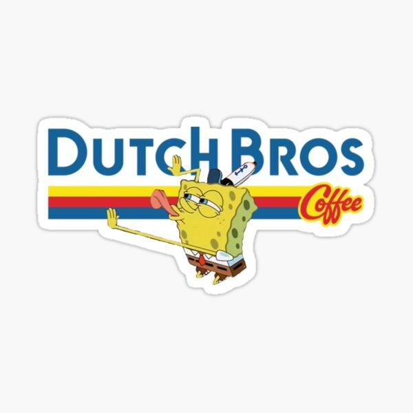 Copy of Coffee lovers Dutch Bros Spongebob Sticker