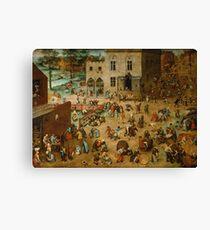 Pieter Bruegel the Elder - Children's Games  Canvas Print