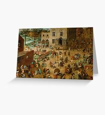 Pieter Bruegel the Elder - Children's Games  Greeting Card
