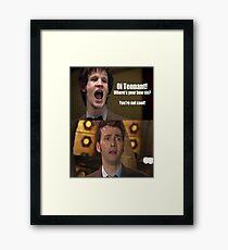 Doctor Who humor Framed Print