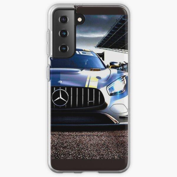 Mercedes Benz argent Coque souple Samsung Galaxy