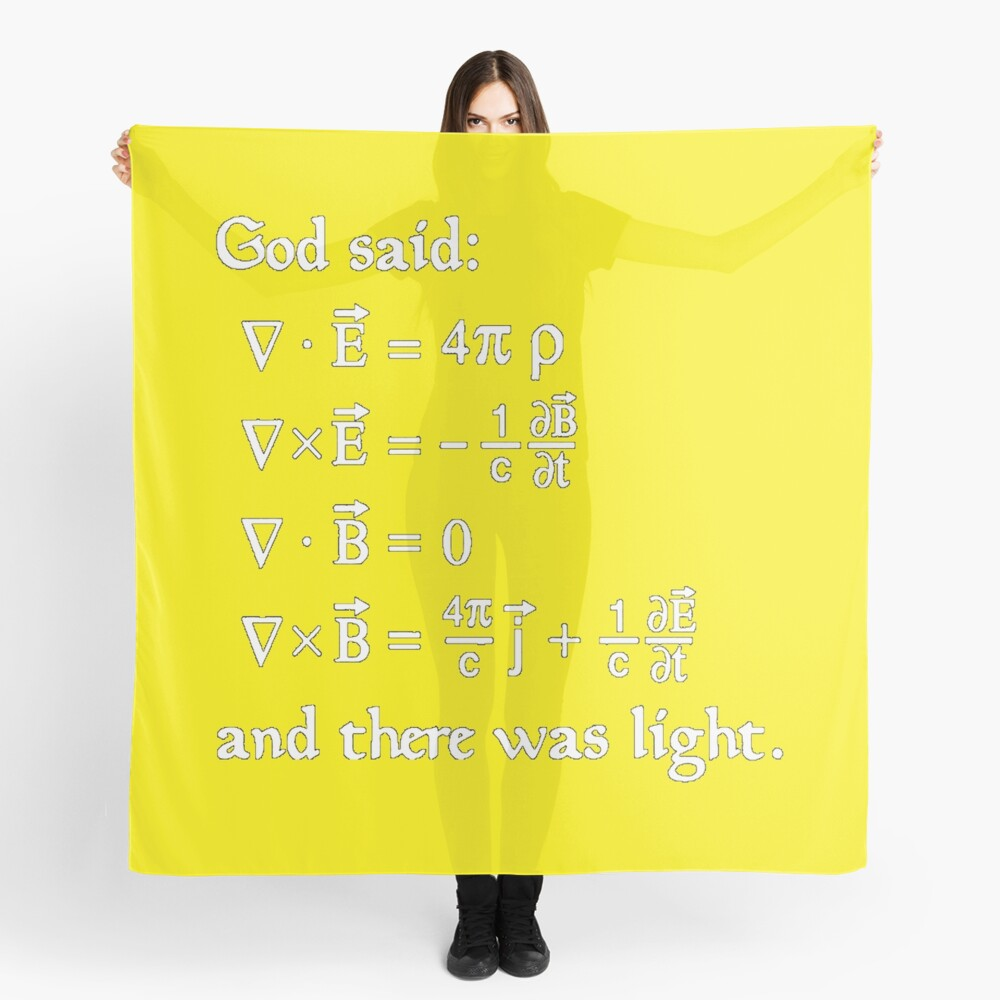 Copy of God said Maxwell Equations, and there was light. Scarf