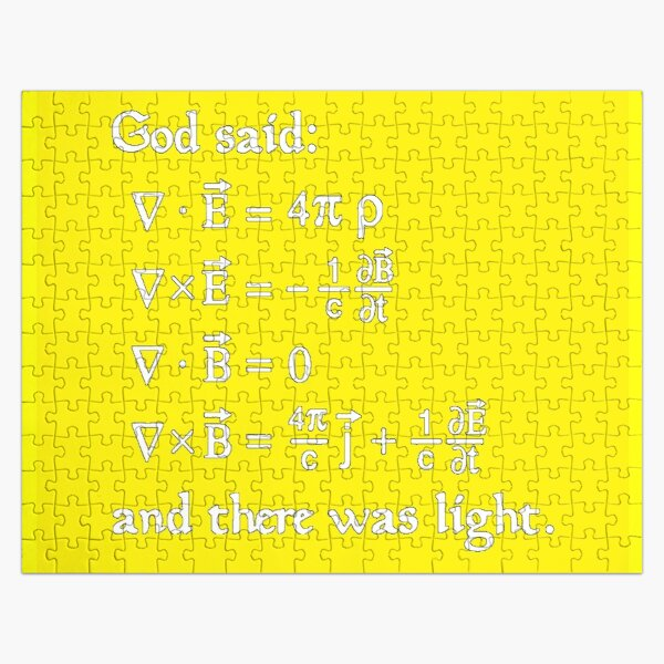 Copy of God said Maxwell Equations, and there was light. Jigsaw Puzzle