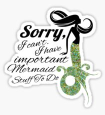 mermaid apologies Sticker