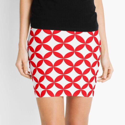 Japanese circle/diamond/flower design Mini Skirt