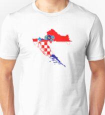 Flag Map of Croatia  T-Shirt