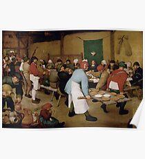 Pieter Bruegel the Elder - Peasant Wedding 1569 Poster