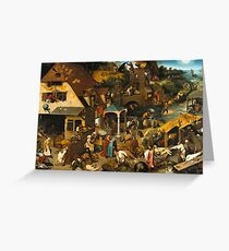 Pieter Bruegel the Elder - The Dutch Proverbs  Greeting Card